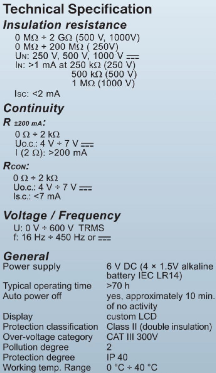 Metrel MI 3103 Gigaohm 1 KV | Terminal Elektronika Sekawan